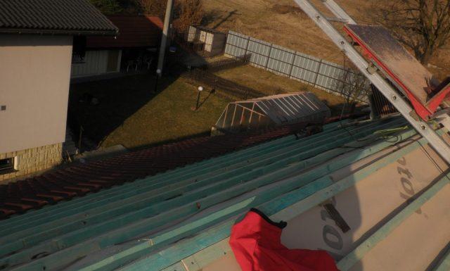 Oprava strechy rodinný dom